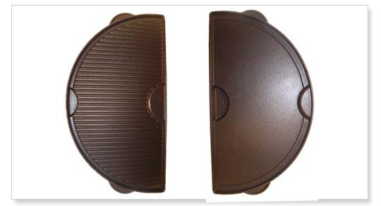 Big Green Egg Half Moon CastIron Griddle Large